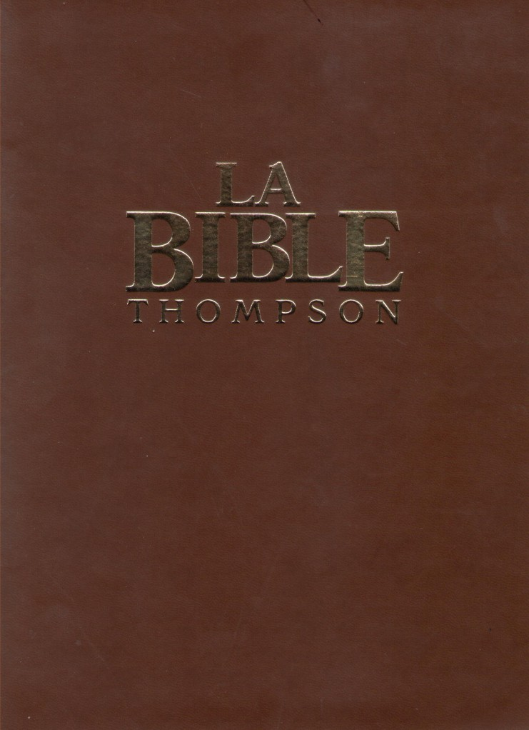 image BIBLE THOMPSON COLOMBE LUXE COUVERTURE SOUPLE MARRON TRANCHE OR