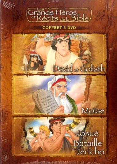 image COFFRET 2 - DAVID ET GOLIATH / MOISE / JOSUE - 3 DVD